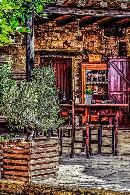Cyprus, Maroni, House, Yard, Architecture, Traditional