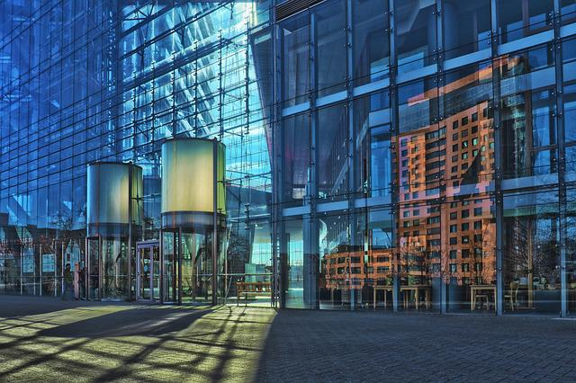 Architecture, Glass, City, Office, Window, Modern