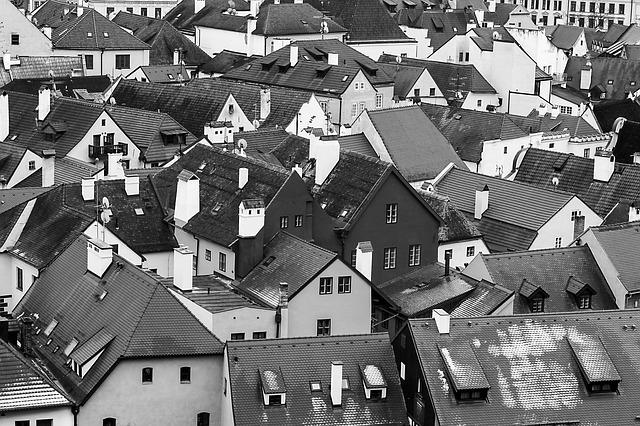 Architecture, House, Street, Monochrome, Housing