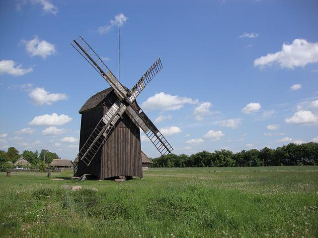 Windmill, Building, Architecture, Monument