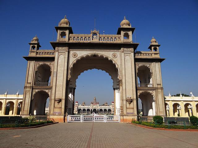 Gate, Mysore Palace, Architecture, Landmark, Entrance