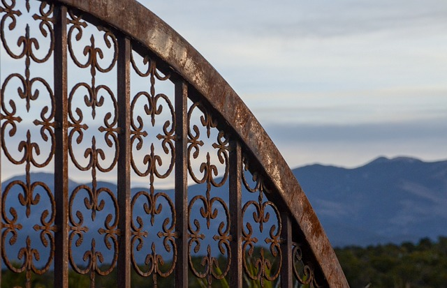 Architecture, Travel, Old, Metal, Sky, New Mexico, Gate