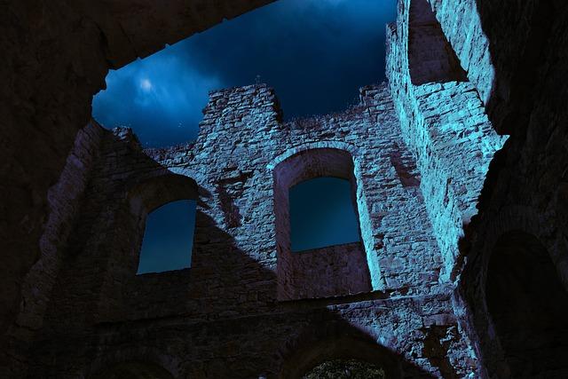Free Photo Architecture Night Castle Ruin Building Max Pixel