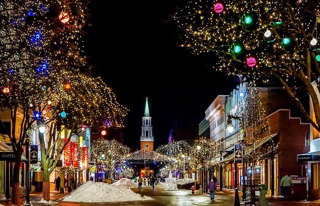 Church, Decoration, Night, Architecture, Color, Winter