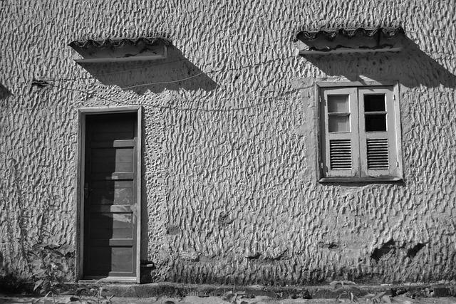 House, Window, Door, Old, Architecture