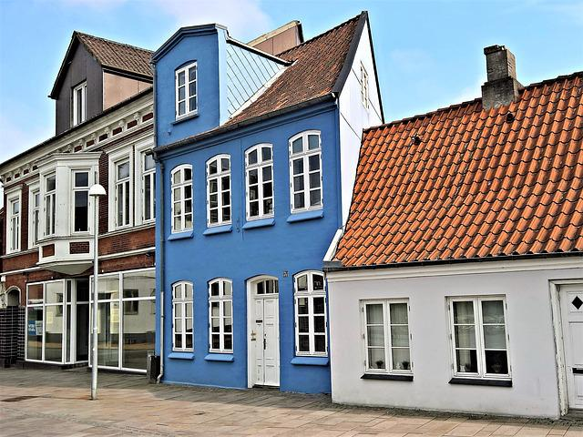 Denmark, Sonderburg, Old Town Houses, Architecture