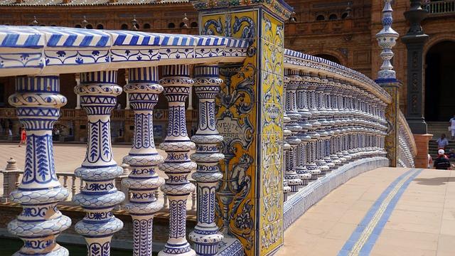 Sevilla, Plaza España, Architecture, Ceramic