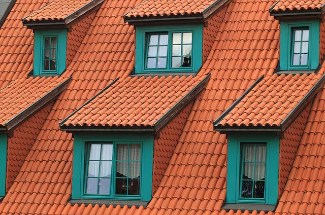 Poland, Torun, Architecture, Tiles, Windows