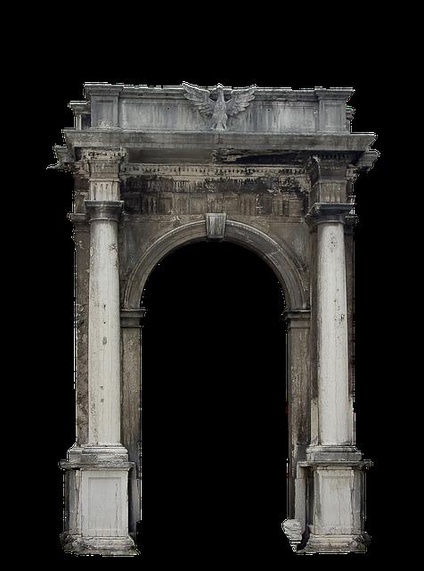 Portal, Columns, Architecture, Building, Entrance, Arch
