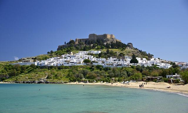 Rhodes, Greece, Castle, Landmark, Hill, Architecture