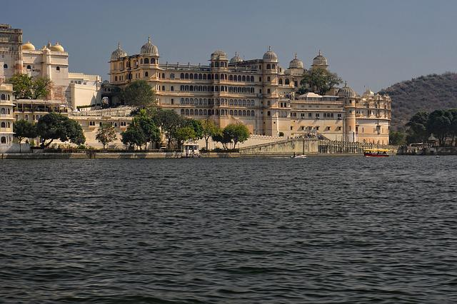 City Palace, Architecture, River, Waters, Panorama
