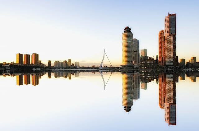 Skyline, Rotterdam, Architecture, Netherlands, City