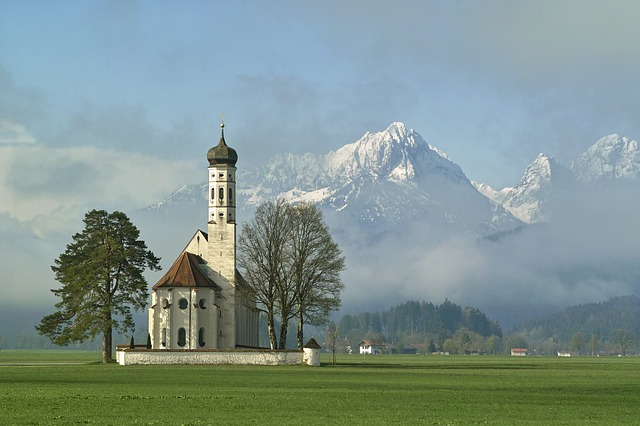 Saint Coloman, Church, Architecture, Schwangau, Spring