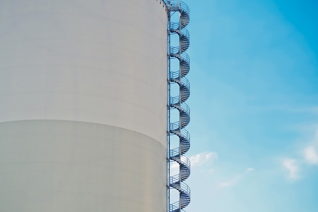 Sky, Industry, Silo, Stairs, Architecture, Building