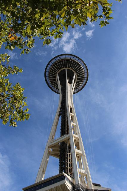 Sky, Architecture, Steel, Outdoors, Seattle, Structure