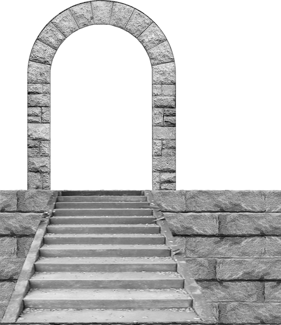Cutout, Architecture, Stone, Arch, Wall, Stairs