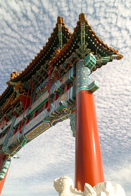 Himmelstor, China, Temple, Roof, Architecture