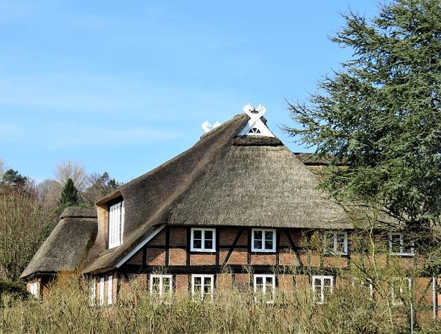 Thatched Cottage, Fachwerkhaus, Architecture, Gable