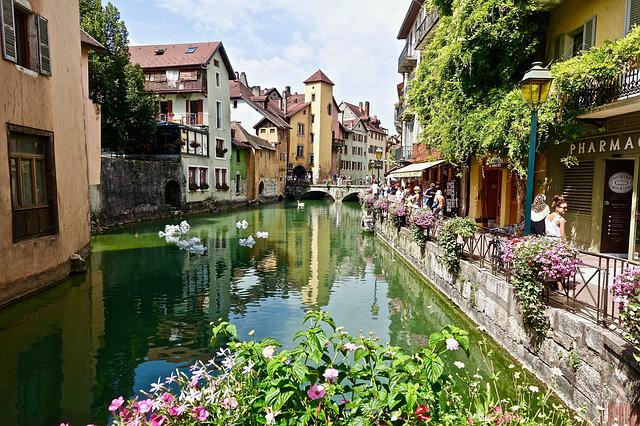 Annecy, Architecture, Tourism, Travel, City, Water