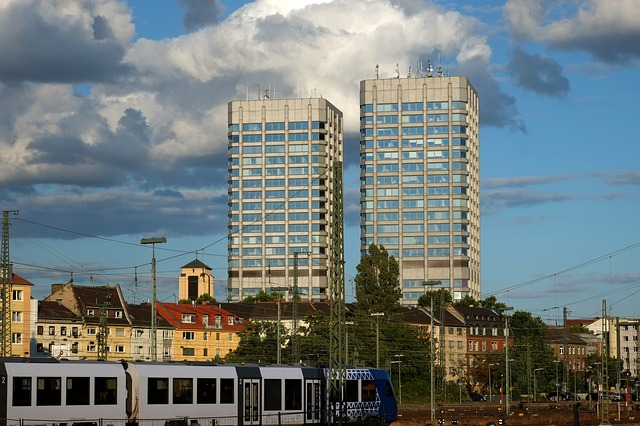 Mainz, Twin Towers, City, Towers, Architecture