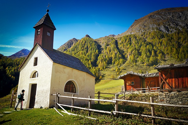 Sky, Home, Wood, Travel, Architecture, Chapel, Tyrol