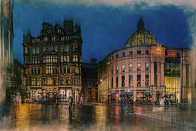 Newcastle, City, England, Uk, Architecture, Urban