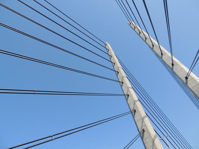 Bridge, Architecture, Building, Sky, Water, Steel