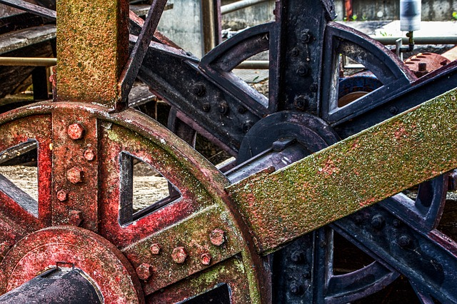 Technology, Waterwheel, Architecture, Old, Weathered