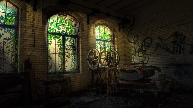 Within, Architecture, Window, Old, Leave, Ruin, Light