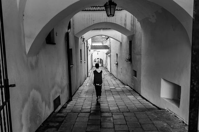 Archway, Black And White, Kroměříž
