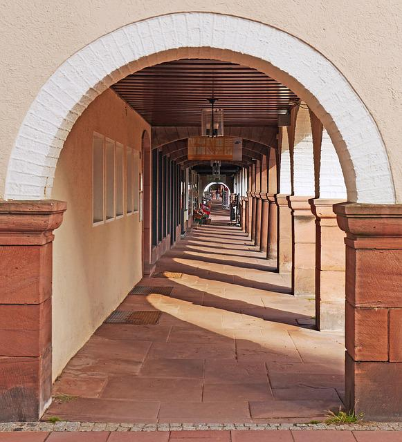 Freudenstadt, Archway, Town Hall Square