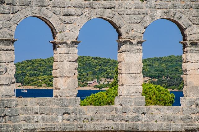 Amphitheater, Croatia, Pula, View, Stones, Arena