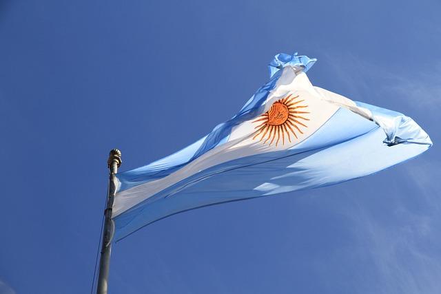 Sky, Blue, Flag, Argentina, Argentinian