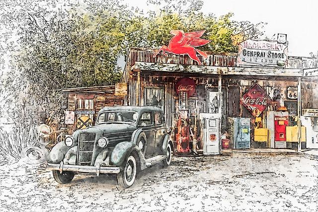 Arizona, General Store, Route 66, Shop, Nostalgia