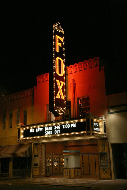 Tucson, Arizona, Fox Theatre, Movies, Films, Night