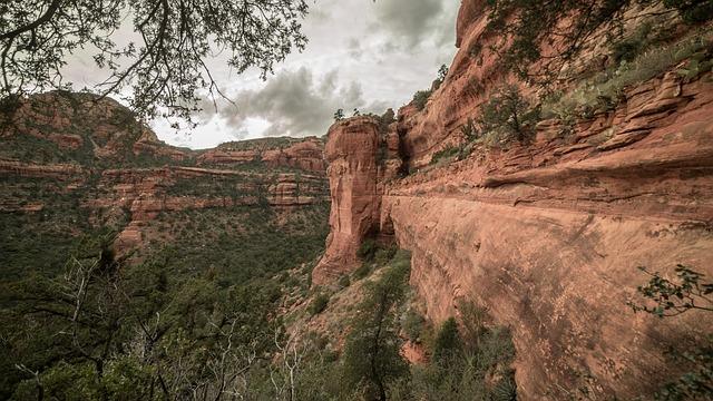 Arizona, Desert, Caves, Walls, Red Rocks, Southwest