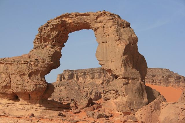 Algeria, Sahara, Desert, Sand, Ark, Erosion