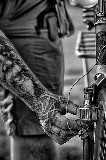 Arm, Hand, Bike, Wheel, Tattoo, Adult