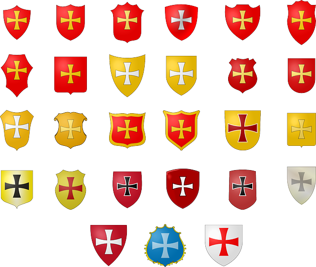 Coat Of Arms, Emblems, Historic, Heraldic, Armory, Gold