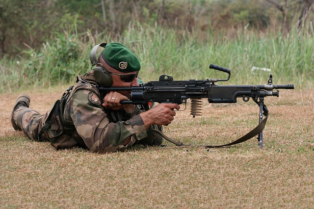 Gun, French Foreign Legion, Military, Army, Soldier