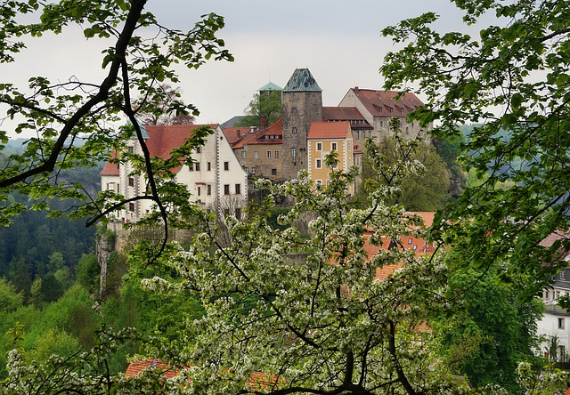Castle Hohnstein, Height Burg, Rock Castle, Around 1200