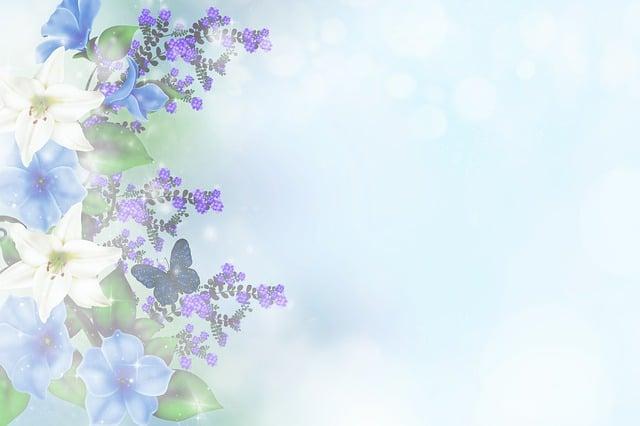 Flowers, Bokeh, Arrangement, Greeting Card, Lilies