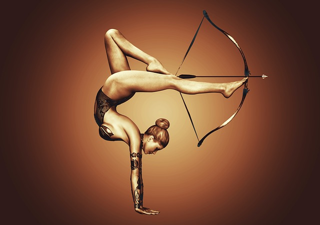 Girl, Sport, Bow, Arrow, Exercise, Athlete, 3d, Energy