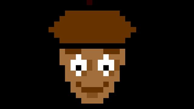 Pixel, Art, Walnut, Nut, 8bit, Retro