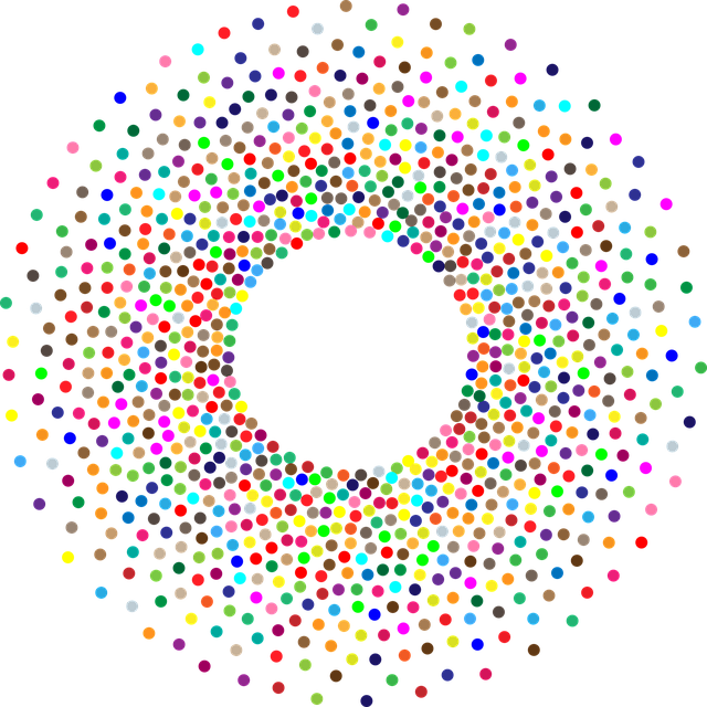 Torus, Circles, Dots, Abstract, Geometric, Art, Frame