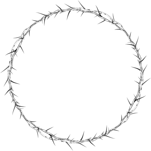 Crown Of Thorns, Circle, Frame, Border, Abstract, Art
