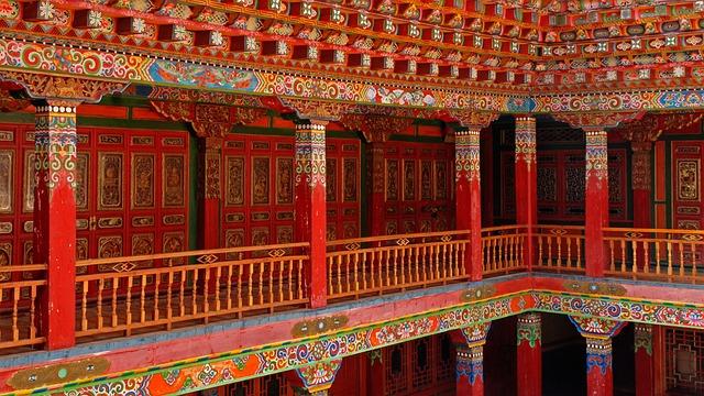 China, Lijiang, Monastery, Buddhism, Art