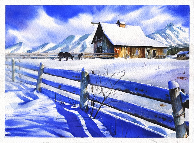 Watercolor, Art, Fin Art, Landscape, Can The Landscape