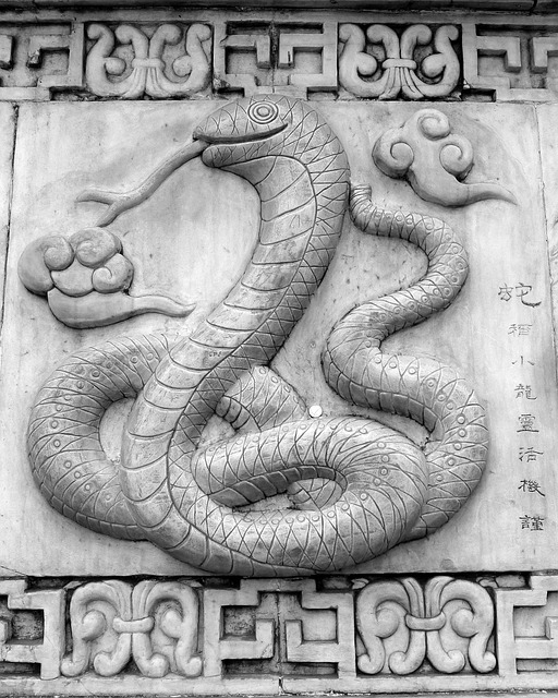 Si, Snake, Oriental, Chinese, Asian, Art, Statue