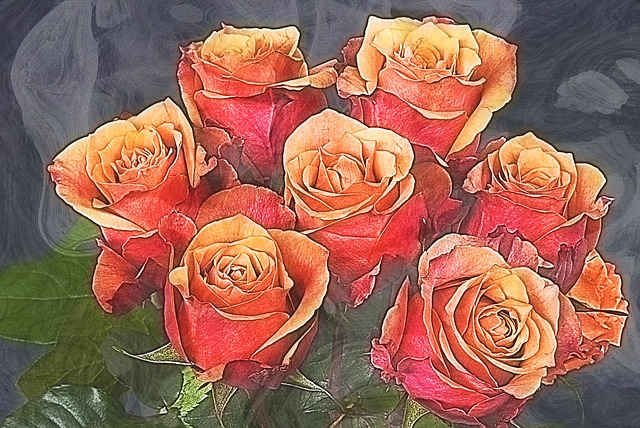 Roses, Art, Artist, Creative, Artistic, Artwork